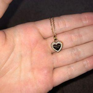 Michael Kors diamond heart shaped necklace!